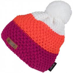 Kapa pletena Eleven POM Orange/Pink