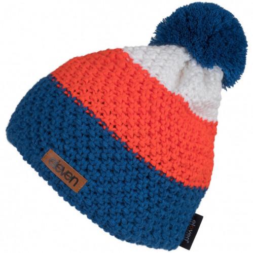 Kapa pletena Eleven POM Orange/Blue