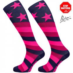 Kompresijske nogavice Stars Pink
