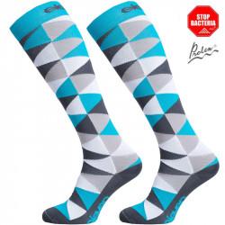 Kompresijske nogavice Triangle Blue