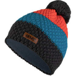 Kapa pletena Eleven Pom Orange/Blue/Grey