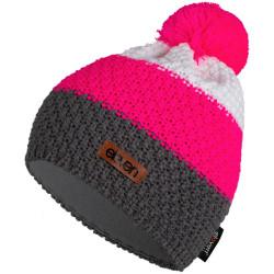 Kapa pletena Eleven Pom Pink